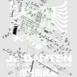 WE Browning 白朗寧 HI-Power MK3 MKIII 原廠零件 爆炸圖 零件下標區