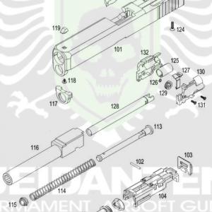 WE Glock 紅點版 RMR MOS 單發 原廠零件 爆炸圖 零件下標區