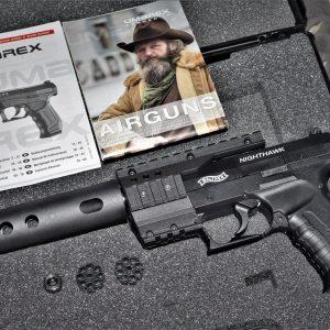 UMAREX Walther 授權 夜鷹 CP99 .177 喇叭彈 彈輪式 CO2 手槍 附槍盒 滅音管 UM-CP99-WASP