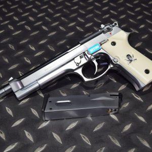 WE M92L 貝瑞塔 GBB 單發 海盜版 加長版 全金屬瓦斯手槍 銀斧頭 電鍍銀 WE-M9X-SL