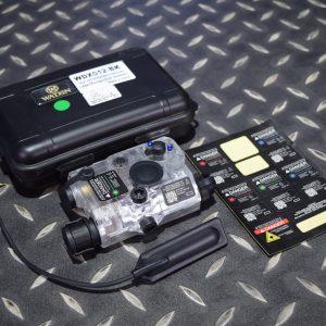 WADSN PEQ-15 LA-5C 升級 功能版 LED白光 綠雷射 電池盒 黑色 WDX012-BK