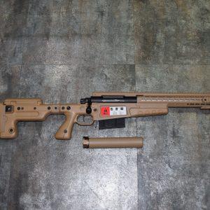ASG ARCHWICK AI 真槍廠授權 MK13 mod7 手拉空氣狙擊槍 滅音管 槍袋 沙色 豪華版