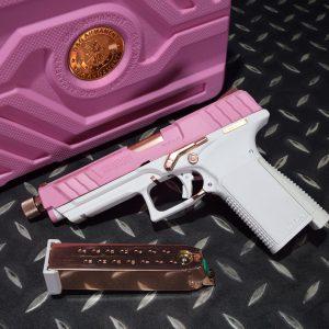 G&G 怪怪 GTP9 GBB 瓦斯手槍 玫瑰金部件 附專用收藏盒 填彈器 粉紅色