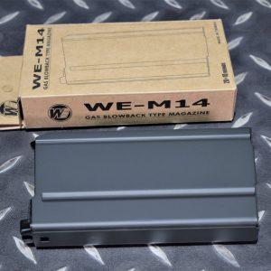 WE M14 GBB 系列 瓦斯長槍彈匣 全金屬材質 黑色 WEA-M14