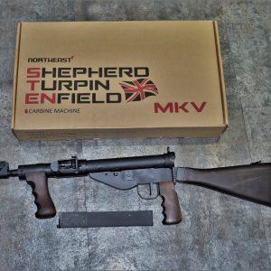 Northeast 司登 STEN MK5 GBB 鋼製 實木槍托握把 東北製造所 NE-SMG-02