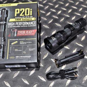 NITECORE P20i 1800流明 343米 一鍵爆閃 USB充電 戰術手電筒 含21700 鋰電池  NIT-03