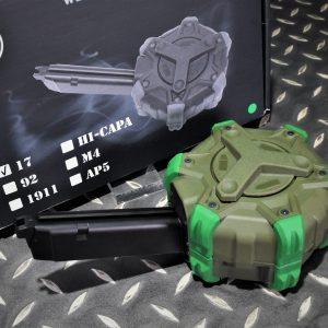 WE GLOCK G17 G18 克拉克AAP01 300發 瓦斯槍 彈匣 彈鼓 綠色WED-G17-GN
