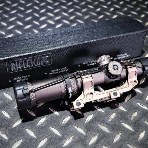 AIMTAC 1-4.5X26 狙擊鏡 高抗震 紅點瞄準鏡 附連體夾具 專用快撥桿 沙色AIM-01T