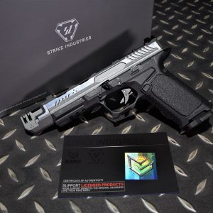 EMG SI 雙授權 STRIKE INDUSTRIES ARK-17 G17 GBB 方舟 抑制器版 瓦斯槍 手槍 銀色