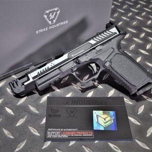 EMG SI 雙授權 STRIKE INDUSTRIES ARK-17 G17 GBB 方舟 抑制器版 瓦斯槍 手槍 黑銀色