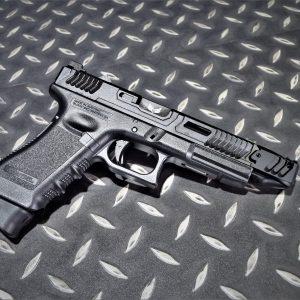 SAT風格 成槍 一般握把版 LoKi GLOCK G17 GBB 瓦斯手槍 黑色鋼滑套+黑色外管