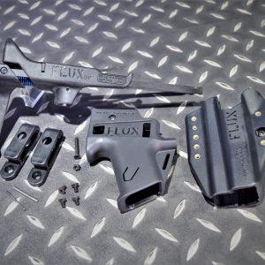 FLUX GLOCK G17 G18C 手槍伸縮托 衝鋒套件 附專用槍套 黑色 HM129-BK
