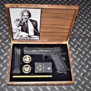 基哥套組 EMG 雙授權 TTI STI 2011 GBB 瓦斯手槍 戰鬥大師 實木收藏盒