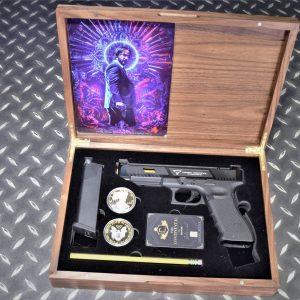 基哥套組 EMG 雙授權 TTI G34 GBB 瓦斯手槍 VFC GLOCK 實木收藏盒 木盒 收納盒
