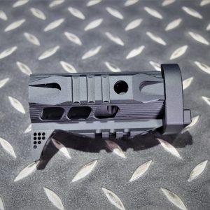 SLR 風格 GHK LCT AK105 用 4吋 下魚骨護木