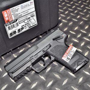 SRC SRSP USP GBB 瓦斯手槍 附槍箱 黑色 SR-SP