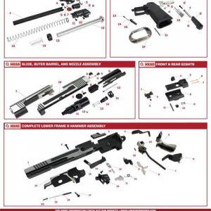 AW HX1001 HI-CAPA GBB 瓦斯手槍 原廠零件下標區