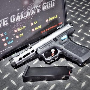 WE GLOCK GALAXY 魯格.22LR AAP01 GBB 瓦斯手槍 銀色
