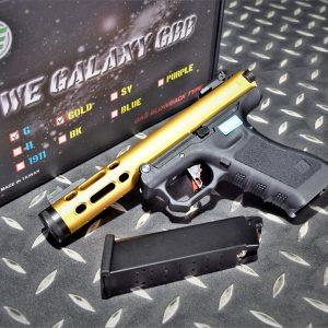 WE GLOCK GALAXY 魯格.22LR AAP01 GBB 瓦斯手槍 金色