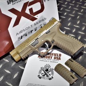 Air Venturi 授權刻字 WE 代工 XDM4.5 GBB 瓦斯槍 6mm手槍 沙色