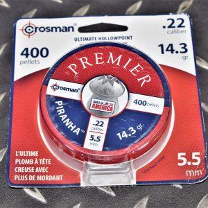 美國原裝進口 CROSMAN 螺絲頭開花鉛彈 5.5mm/.22 14.3gr 鐵盒包裝 400入