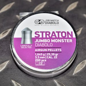 JSB STRATON 5.5mm .22 25.39gr 尖頭 喇叭彈 1.645g 200入
