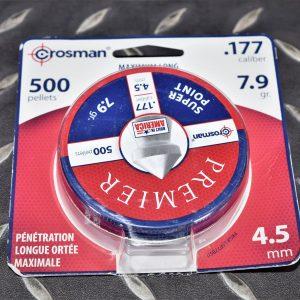 美國進口 CROSMAN 尖頭 喇叭彈 4.5mm.177 7.9gr 鐵盒包裝 500入