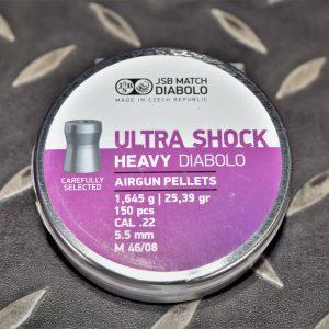 JSB ULTRA SHOCK 平頭 喇叭彈 5.5mm .22 25.39gr 1645g 150入