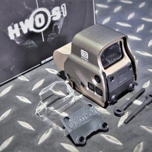 悍武 HWO Eo-tech 風格 EXPS3 內紅點 電視機 快瞄 附壓克力保護片 紅光 沙色 HWO-S1