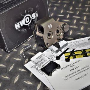 悍武 HWO Eotech 風格 EXPS3 內紅點 電視機 快瞄 附壓克力保護片 紅光 沙色 HWO-S1