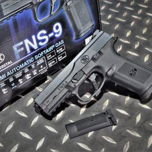 CyberGun 授權 FNS-9 GBB 鋼製 瓦斯手槍 黑色 VFC-FNS9-BK