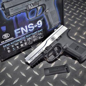 CyberGun 授權 FNS-9 GBB 鋼製 瓦斯手槍 銀色 VFC-FNS9-SV