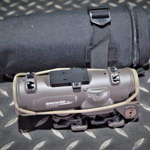 複刻 Elcan 風格 Specter DR 1-4X 火車頭瞄準鏡 貓頭鷹底座另購 沙色 HW-DR-1-4X-DE