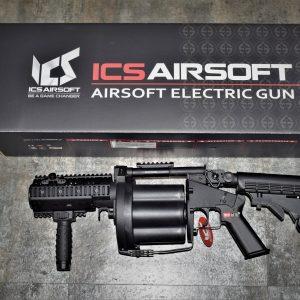 一芝軒 ICS GLM 金屬護木 六管 多管 短管 榴彈 發射器 40mm 撒旦之輪 不含榴彈 黑色 ICS-193