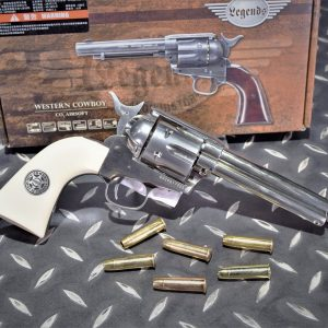 Umarex Colt SAA COWBOY CO2左輪手槍 銀 象牙白6mm UMAREX-SAA-SL