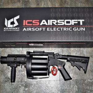 一芝軒 ICS GLM 六管 多管 榴彈 發射器 40mm 撒旦之輪 不含榴彈 黑色 ICS-190