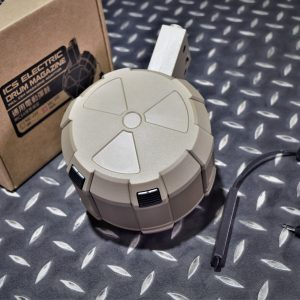 一芝軒 ICS 電動槍 AEG 2000發 電動彈鼓 附線控老鼠尾 通用型 M4 彈鼓 沙色 MA-241