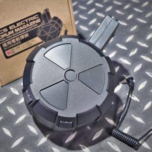 一芝軒 ICS 電動槍 AEG 2000發 電動彈鼓 附線控老鼠尾 通用型 M4 彈鼓 黑色 MA-239