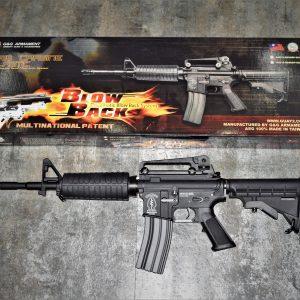 G&G 怪怪 M4A1 BLOWBACK 單連發 AEG 電動槍 黑色 GR16-1BK