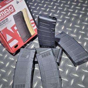 ARES M4 AEG 電動槍 130發 PMAG造型 黑色 無聲彈匣 一盒五入 MAG-B-023-BK