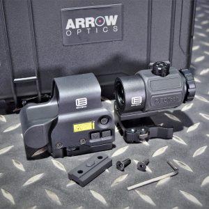 ARROW EO-Tech風格 IR模式 558 EXPS3 快拆內紅點快瞄 G43 側翻3倍鏡 黑色套組 ARROW-558G43-BK