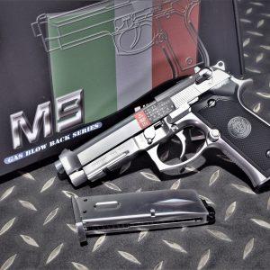 WE M9A1 貝瑞塔 GBB 全金屬 手槍 瓦斯槍 單連發 銀色 WE-M012-M9A1-SV