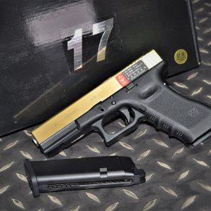 WE GLOCK 克拉克 G17 Gen3 A版 瓦斯槍 GBB 手槍 鈦金色 WE-G001A-TG-17
