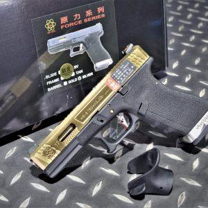 WE 原力 GLOCK 克拉克 G17 鈦金色滑套 GBB 瓦斯槍 瓦斯手槍 WE-G001WET-TG