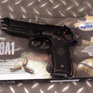 KJ  M9A1 M9 GBB 全金屬 瓦斯手槍 黑色 KJ-M9A1