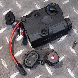 復刻 AN/PEQ-15 LA-5 紅鐳射功能 電池盒 黑色 TMC-15LS-BK