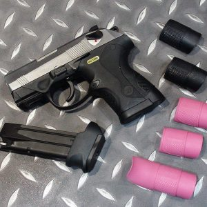 WE PX4C 鬥牛犬瓦斯手槍 GBB 雙彈匣 銀滑套 銀色 WEB01S-PX4C