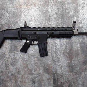 WE SCAR 全金屬 電槍 AEG 金屬BOX 強磁馬達  黑色 WE-AEG-SCAR-B