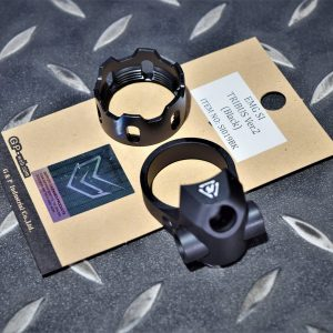 G&P EMG SI風格 CNC 鋁合金 槍托固定環 V2 黑色 GP-SI019BK