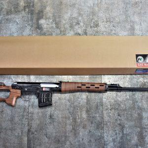 WE SVD 鋼槍身 鋁合金外管 仿木紋膠托版 GBB 瓦斯狙擊槍 WE-R-AD-003